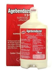 AGEBENDAZOL INJETAVEL 15 %-1000 ML