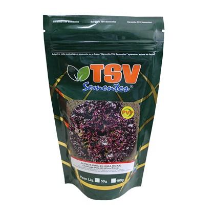 Alface Pira Roxa 63 -  7.500 Sementes – TSV