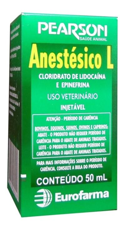 ANESTESICO L - PEARSON ANESTESICO VETERINARIO