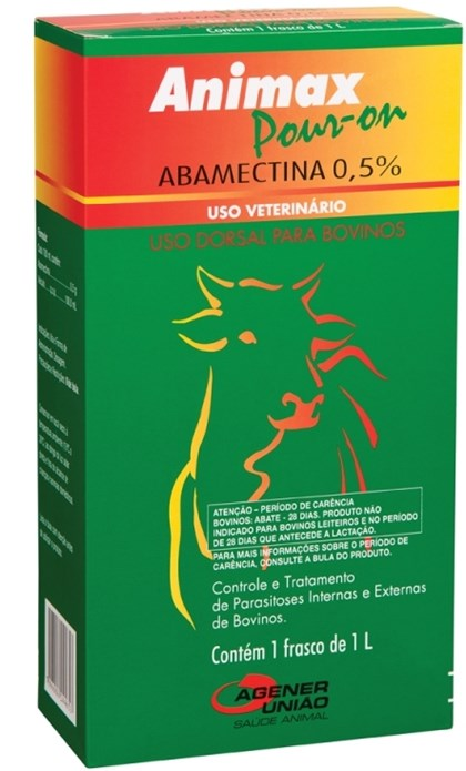 ANIMAX ABAMECTINA 0,5% POUR ON 1 LITRO - AGENER