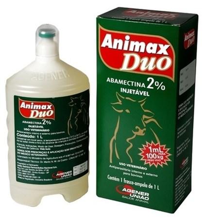 ANIMAX DUO 1 LITRO - ABAMECTINA 2% AGENER