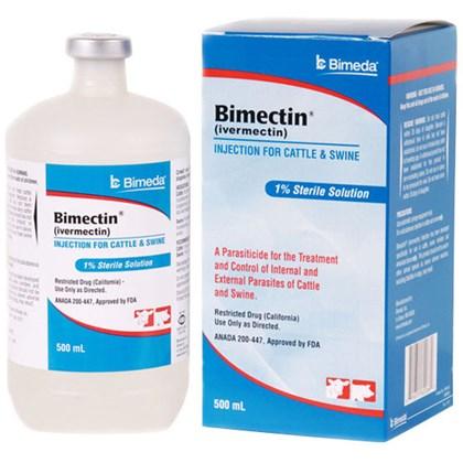 Bimectin – Ivermectina 1% Injetável- 500 ml – Bimeda