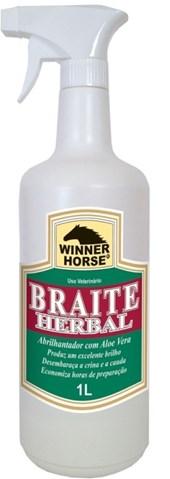 BRAITE HERBAL ABRILHANTADOR 1 LITRO COM APLICADOR (ALOE VERA) - WINNER HORSE