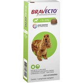 BRAVECTO 10 - 20KGS ANTI PULGAS E CARRAPATO (500MG) - MSD