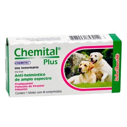 Chemital Plus – Anti-helmíntico – 4 Comprimidos - Chemitec