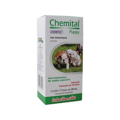 Chemital Puppy – Anti-helmíntico – 20 mL – Chemitec
