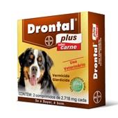 Drontal Plus - 2 Comprimidos  Até 35 Kg - Elanco
