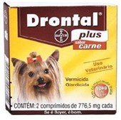 DRONTAL PLUS - 2 COMPRIMIDOS SABOR CARNE BAYER PET