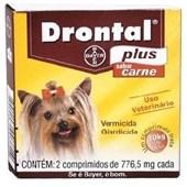 Drontal Plus - 2 Comprimidos Sabor Carne - Elanco