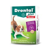 DRONTAL PLUS - 4 COMPRIMIDOS  BAYER PET