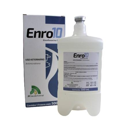 Enro 10– Enrofloxacina 10%– 500 ml – JÁ Saúde Animal