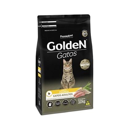 GOLDEN GATOS CASTRADOS - 3 KG - SABOR CARNE