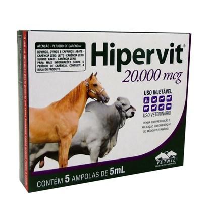 HIPERVIT 20.000  -  CX 5 AMPOLAS - VETNIL