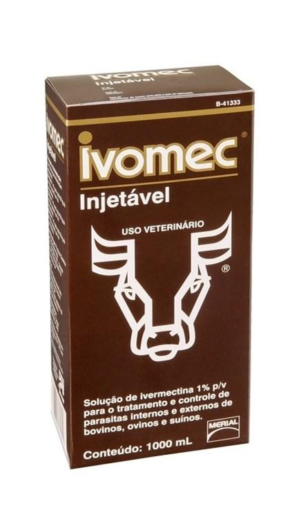 IVOMEC INJETAVEL 1000ML - IVERMECTINA MERIAL A 1%