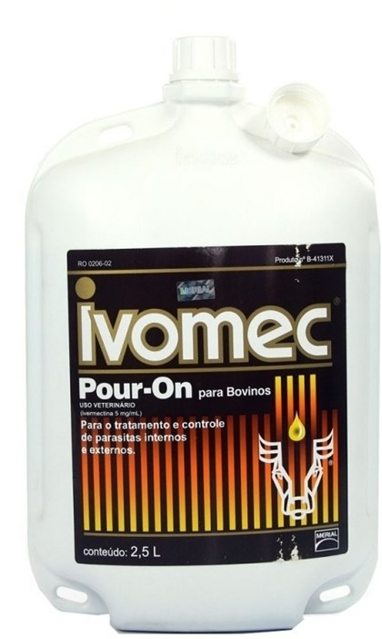 IVOMEC POUR ON 2,5 LTS - IVERMECTINA A 0,5% - BOEHRINGER INGELHEIM