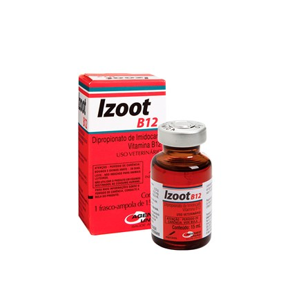 Izoot B12 – Antimicrobiano Injetável – 15 ml – Agener