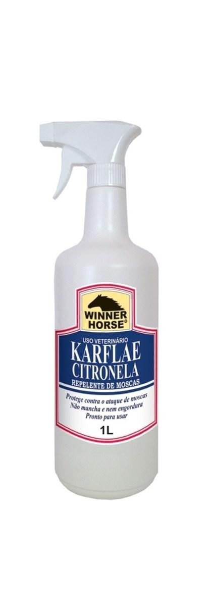 KARFLAE CITRONELA 1 LITRO COM APLICADOR (REPELENTE MOSCA E MOSQUITO) - WINNER HORSE