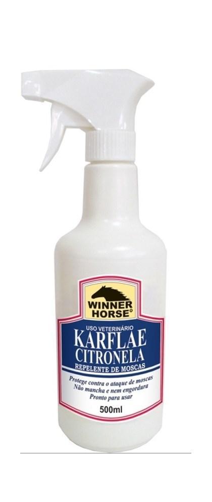KARFLAE CITRONELA 500ML COM APLICADOR (REPELE MOSCAS E MOSQUITOS) - WINNER HORSE