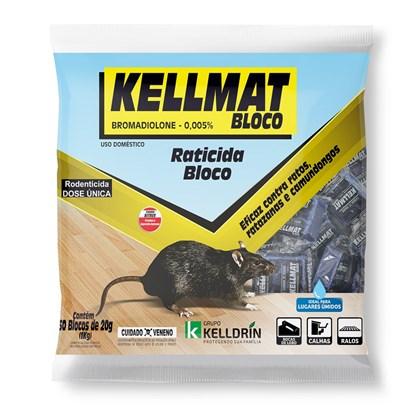 Kellmat – raticida – 4 blocos de 20 gramas - Kelldrin