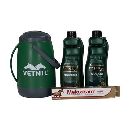 Kit: 1 Hemolitan JCR 1 litro+ Glicopan JCR 1 litro+ Meloxicam gel = ganhe 1 garrafa