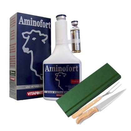 Kit: 12 Aminofort – Ganhe 1 jogo de faca – Eurofarma