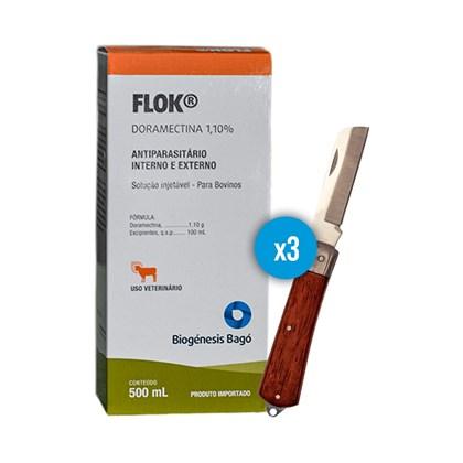 Kit: 3 Flok Doramectina 1,10% – Ganhe 1 canivete