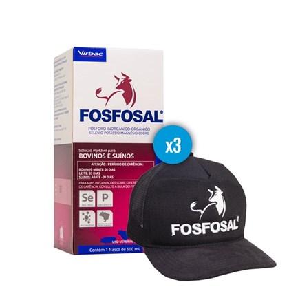 Kit promocional: 3 Fosfosal 500ml – Ganhe 1 boné