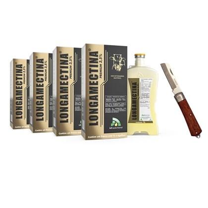 Kit Promocional: 4 Longamectina 1 litro – Frete Grátis e Ganhe 1 canivete – J A SAÚDE ANIMAL