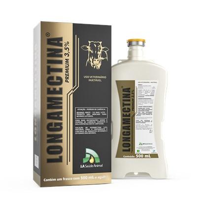 Longamectina Premium - Ivermectina 3,5% - JA SAÚDE ANIMAL - 500 Ml