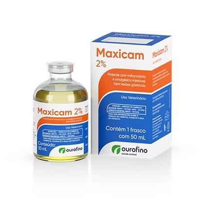 Maxicam 2% Injetável - Ourofino - 50 Ml