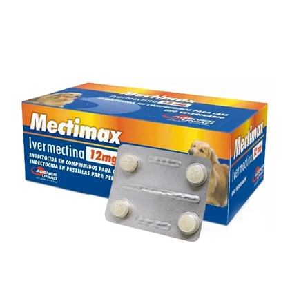 Mectimax 12mg - 4 Comprimidos