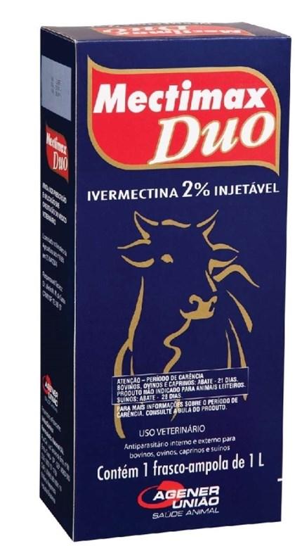 MECTIMAX DUO IVERMECTINA 2% 1000ML - AGENER