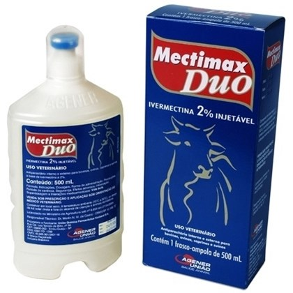 MECTIMAX DUO IVERMECTINA INJETAVEL 2% - 500ML