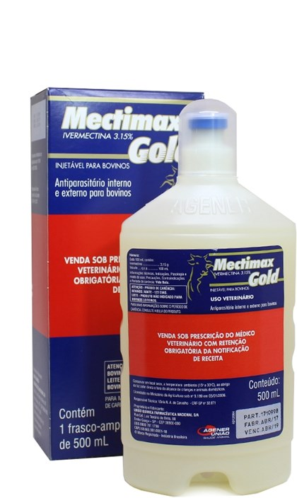 MECTIMAX GOLD 3,15% IVERMECTINA - 500 ML - AGENER