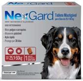 NEXGARD  25,1 - 50KG ANTI PULGAS E CARRAPATO - MERIAL
