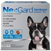 NEXGARD  4,1 - 10 KG ANTI PULGAS E CARRAPATO - MERIAL