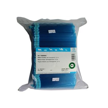 Palhetas Médias - 0,5 ml - Azul - Minitub