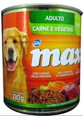 PATÊ MAX ADULTO - CARNE E VEGETAIS-280 GRAMAS