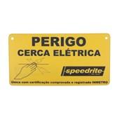 Placa De Aviso -Cerca Elétrica - Tru Test