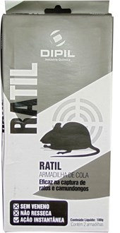 RATIL COLA GDE - 2 UNI   ARMADILHA PARA RATOS