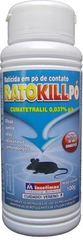 RATOKILL PÓ - 100 GRAMAS - INSETIMAX