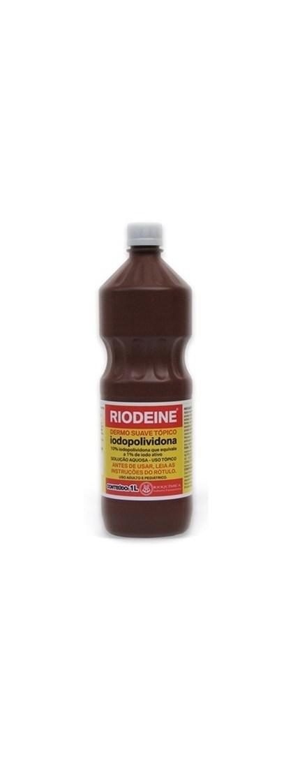 RIODEINE - DERMO SUAVE TÓPICO - IODOPOLIVIDONA - 1 LITRO