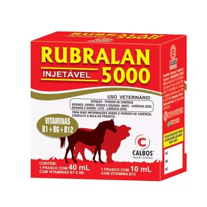 RUBRALAN 5000 INJETÁVEL (40ML VIT B1 E B6 + 10ML VIT B12) - CALBOS