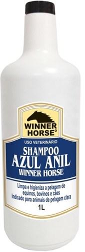 SHAMPOO AZUL ANIL 1 LITRO (PARA PELAGEM CLARA) -  WINNER HORSE