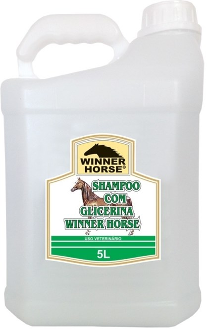 SHAMPOO COM GLICERINA 5 LITROS (MACIEZ E SUAVIDADE) -  WINNER HORSE