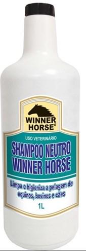 SHAMPOO NEUTRO 1 LITRO (FÓRMULA SUAVE) -  WINNER HORSE