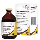 Terramicina LA Solução Injetável - Antibiótico oxitetraciclina – 50 mL - Zoetis
