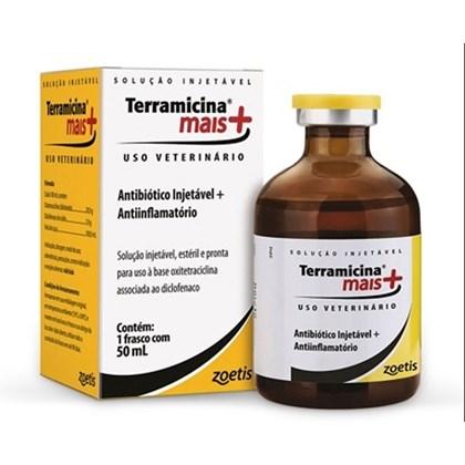 Terramicina Mais Injetável - Antibiótico e Anti-inflamatório oxitetraciclina e diclofenaco – 50 mL - Zoetis