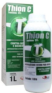 THION C – FENTHION 15% - ANTIPARASITÁRIO EXTERNO PARA BOVINOS - 1 LITRO - AGENER